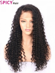 200% density Best Quality hair no tangle deep wave full lace wig