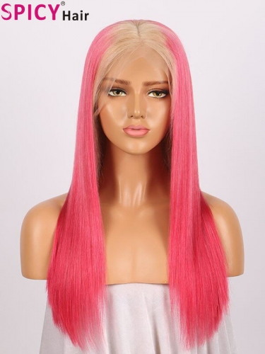 Spicyhair 150% density #613 root red color straight full lace wig hd lace wig