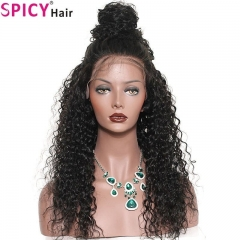 Spicyhair 180% density New Arrival 13*6 Virgin Kinky Curly Lace Front Wigs