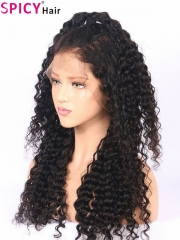 Spicyhair New arrival 200% density no tangle deep wave 360 lace wig