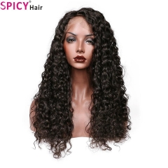 Spicyhair 180% density Top Quality 13*6 Virgin human wig Deep Wave Lace Front Wigs