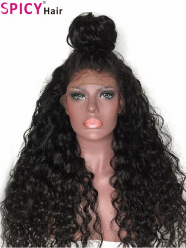 Spicyhair Best quality 200% density Deepl wave for black women 360 lace wig 100% human hair