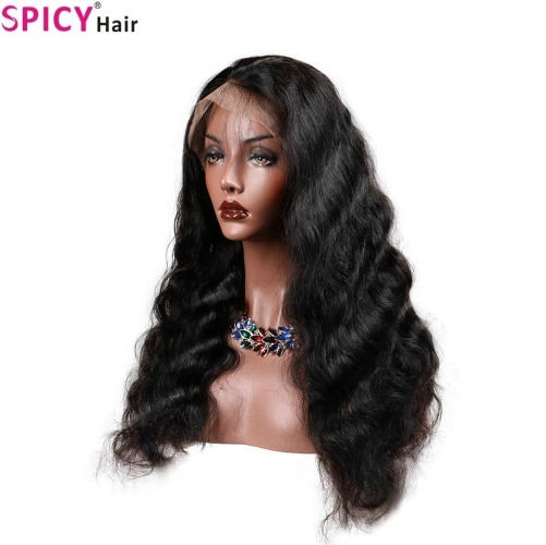 Spicyhair 180% density 13*6 Virgin human wig Body Wave Lace Front Wigs