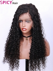 Spicyhair 180% density Top Quality Selling Directly From Factory no tangle deep wave lace front wig