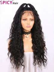 Spicyhair 180% good looking natural wig for women wavy lace front wig