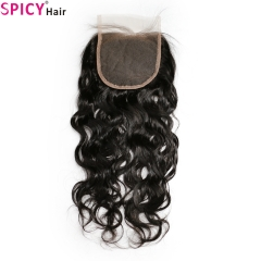Spicyhair Tangle free 10A waterwave 4×4 lace closure