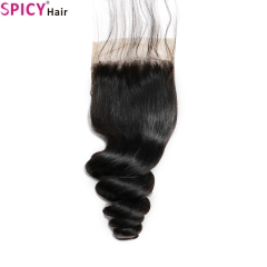 Spicyhair Tangle free 10A Top Quality loosewave  4×4 lace closure