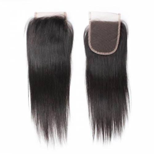 Spicyhair Tangle free 10A silky straight 4×4 lace closure