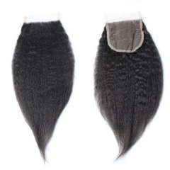Spicyhair Tangle free 10A kinkystraight 4×4 lace closure
