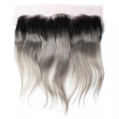 Spicyhair 100% DHL Free Shipping  No Tangle 1b/grey Straight Frontal