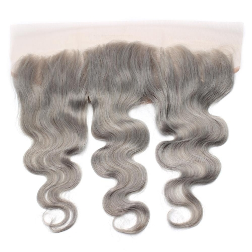Spicyhair 100% DHL Free Shipping  No Shedding Grey Bodywave Frontal