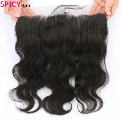Spicyhair 100% DHL Free Shipping  Tanglefree 13x4 Bodywave Frontal