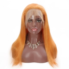 Spicyhair  cheap color human wigs Orange Straight full lace wig