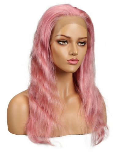 Spicyhair Good Quality&Cheap Pink bodywave lace front wig