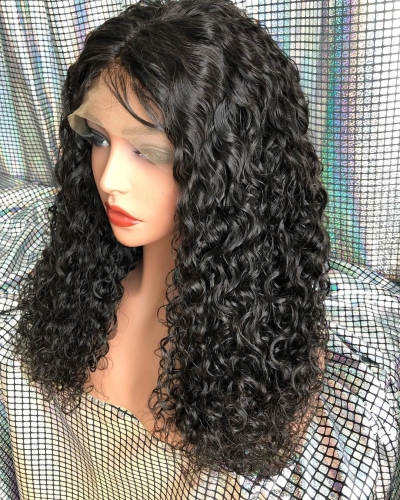 Spicyhair 180% free shipping selling directly from factory water wave lace front wig
