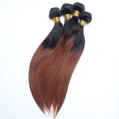 Spicyhair 100% Shipping Free by DHL brown ombre Straight human hair Bundles