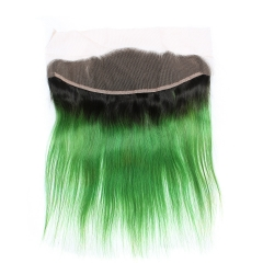 Spicyhair 100% Good Looking 1b/green Straight human hair Frontal