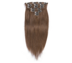 100%  cheap&nice #4 color human straight clip-in hair extensions.
