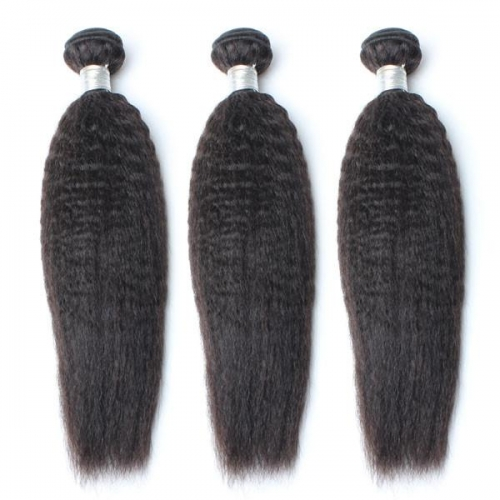 Spicyhair 100% Top Quality Virgin Human Hair No Shedding Kinky Straight 3 Bundles