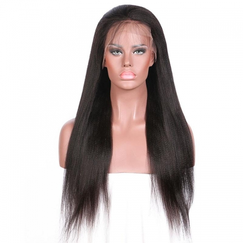 Spicyhair Good Quality Supper Realistic 200% density Yaki Straight full lace wig