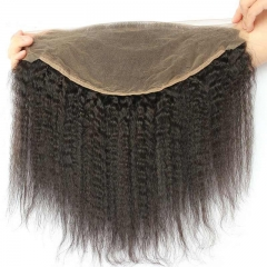 Spicyhair 100% DHL Free Shipping  No Shedding Kinkystraight 13x6 Frontal