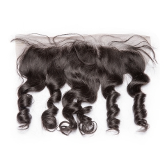 Spicyhair 10A Quality 100% Human Hair Tanglefree Loose Wave Frontal
