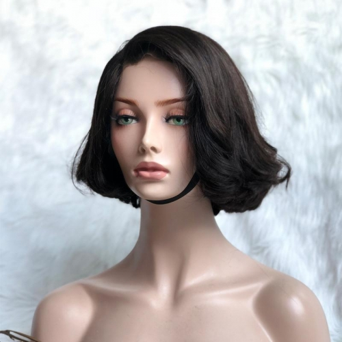 Spicyhair 180% density  shipping free Selling directly from Factory Wavy bob wig 100% human hair