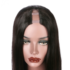Spicyhair Top Quality Real human wig Glueless Silky Straight U-part lace front wig 3-4 days DHL Free Fast Shipping