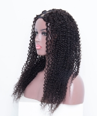 Spicyhair Real human wig Tangle Free Glueless  kinky curly U-part lace front wig 3-4 days DHL Free Shipping