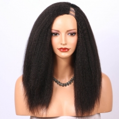 Spicyhair 200% density no shedding kinky straight U-part full lace wig Top Quality Real Human Wig Selling directly from Factory