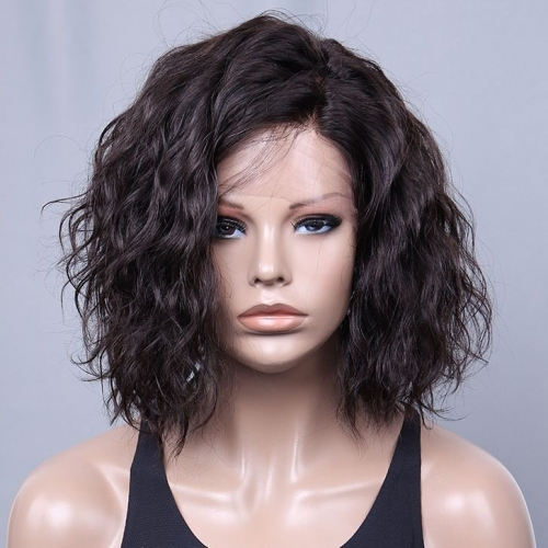 Spicyhair 10A 180% density  shipping free Selling directly from Factory Water Wave Bob Wig 100% Tangle Free Real Human Hair