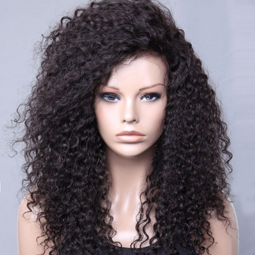 Spicyhair 180% free shipping selling directly from factory Supper Curly lace front wig