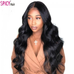 Spicyhair  10A Sexy Lady Looking bodywave lace front wig best quality human hair with good price.