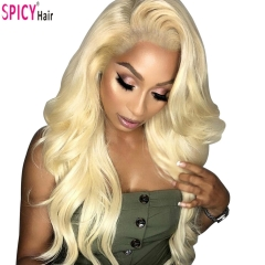 Spicyhair 150% density #613 Blonde bodywave full lace wig