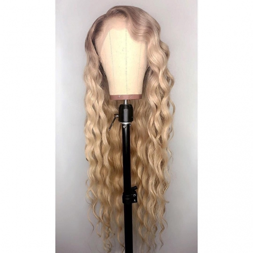 Spicyhair 150% DENSITY  Best Quality  Golden Rose tangle free Deep Wave full lace wig 100% Real HumanWig transparent lace wig selling directly from fa