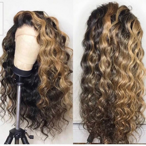 Spicyhair 150% density Fashional Looking Umbre  Water Wave full lace wig best quality with affordable price no shedding and tangle free.