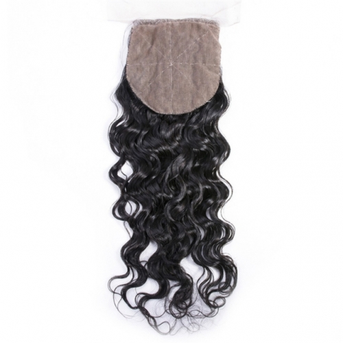 Spicyhair 10A Top Quality Waterwave  4×4 Silk Base closure best quality cheap human hair for black women