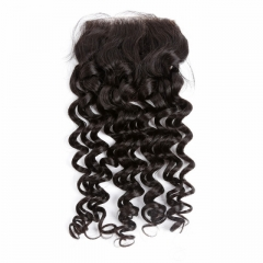 Spicyhair Tangle free 10A Selling Directly From Factory deep wave 4×4 lace closure