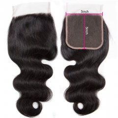 Spicyhair  10A Top Quality Body Wave 5×5 lace closure good quality with cheap price human hair