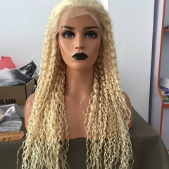 Spicyhair  #613 Blonde Kinky Curly full lace wig transparent lace gluelesss wig Best Quality with good price selling directly from Hair factory.