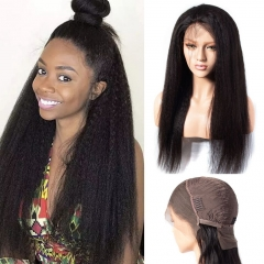 Spicyhair 100% no shedding no glue  kinky straight lace front wig